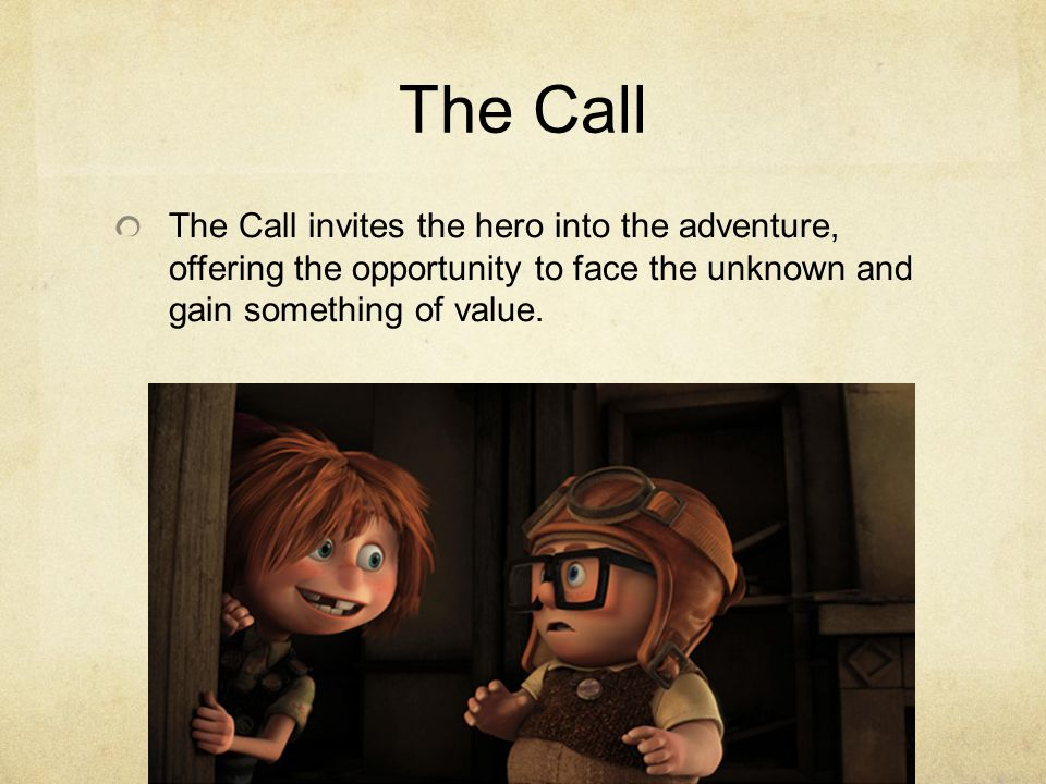 The Call invites the hero into the adventure, offering the opportunity to face the unknown and gain something of value.