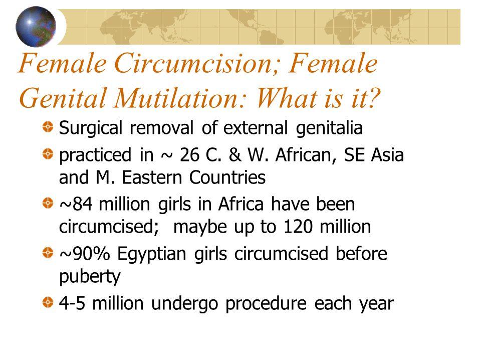 Female Circumcision; Female Genital Mutilation: What is it.