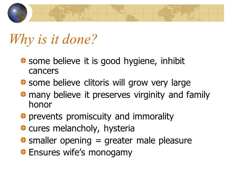 Types of Female Circumcision I. Sunna Procedure - removal of the clitoral precupice (foreskin).