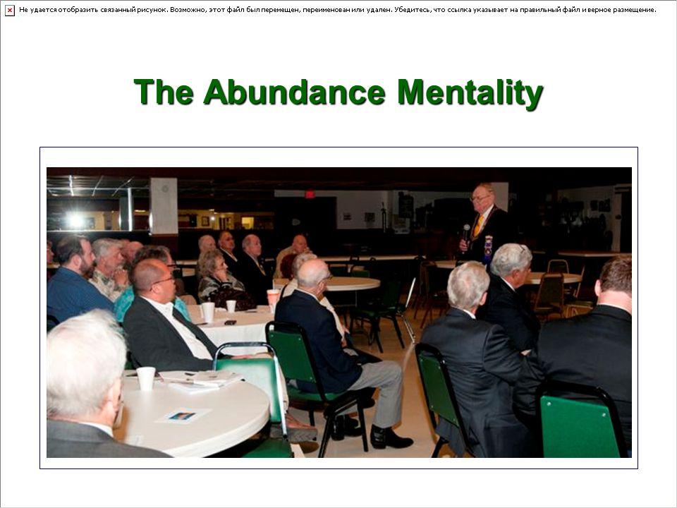— The Abundance Mentality
