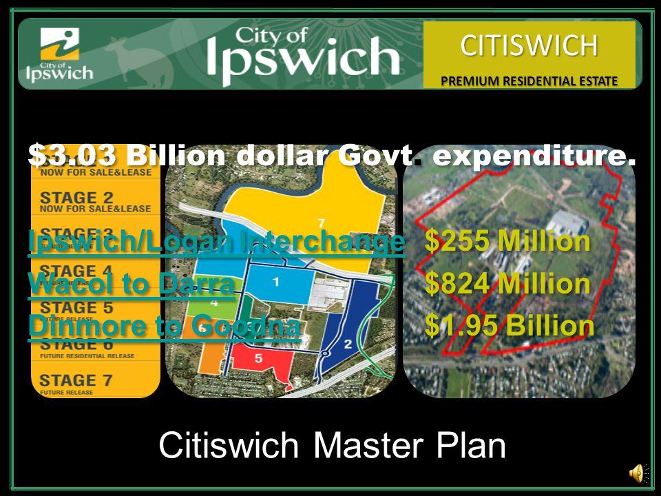 Citiswich Master Plan $3.03 Billion dollar Govt.expenditure.