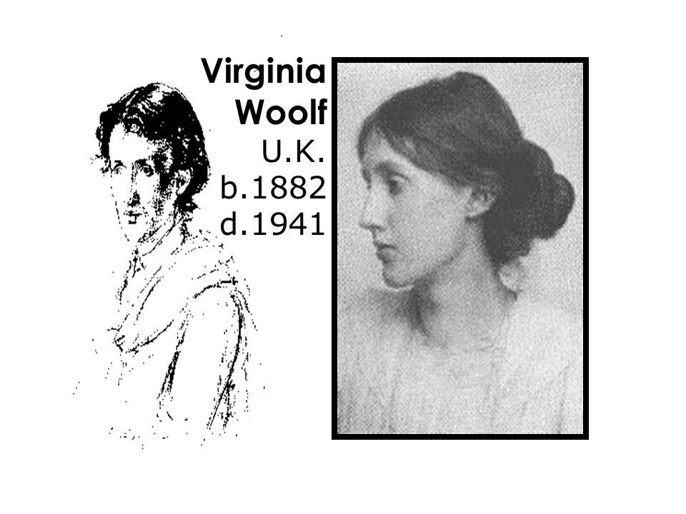 Virginia Woolf U.K. b.1882 d.1941
