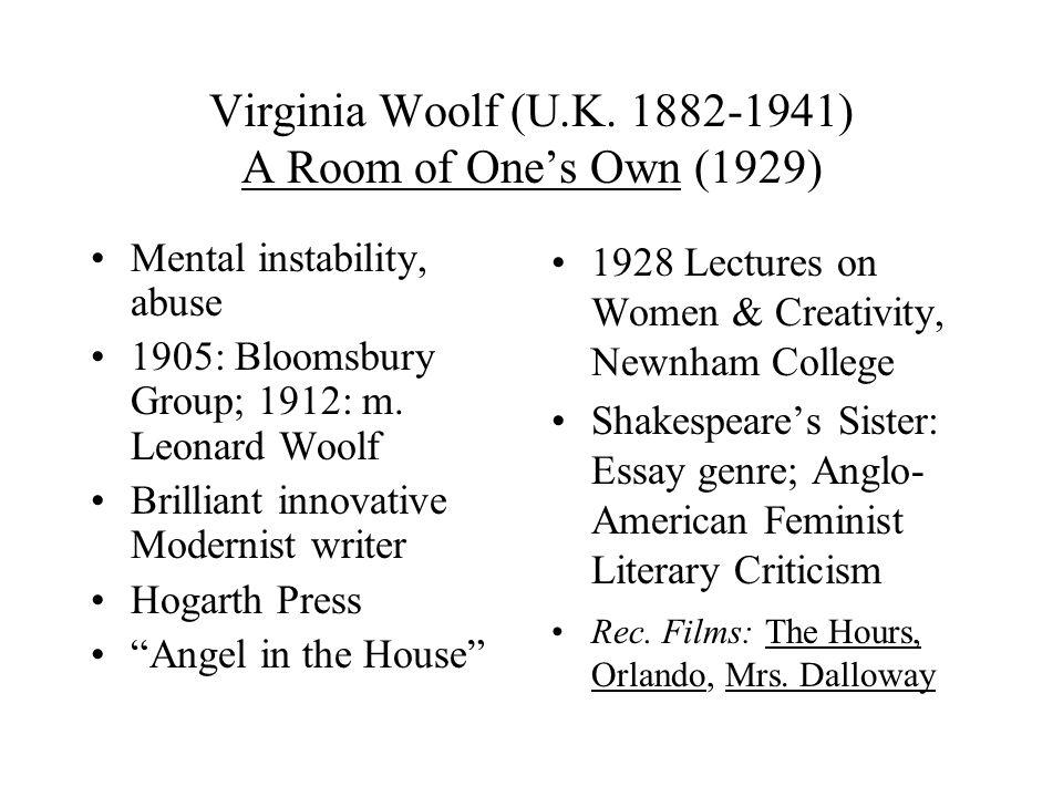 Virginia Woolf (U.K.