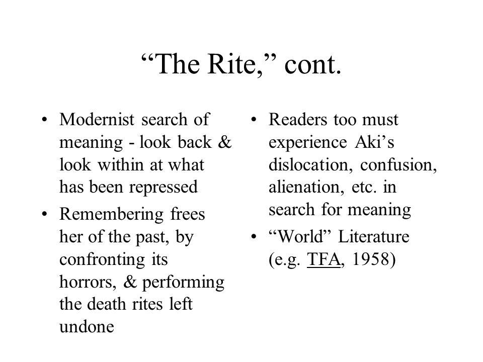 The Rite, cont.