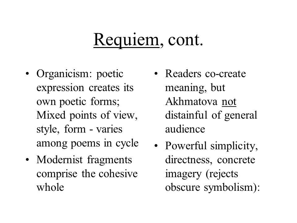 Requiem, cont.