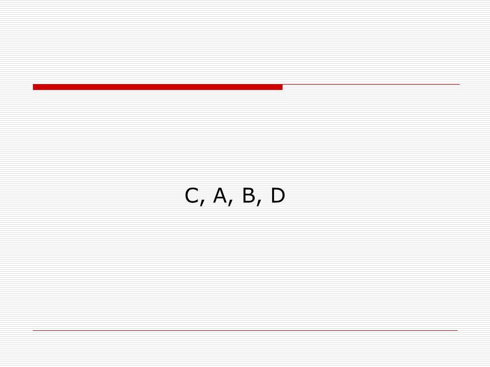 C, A, B, D