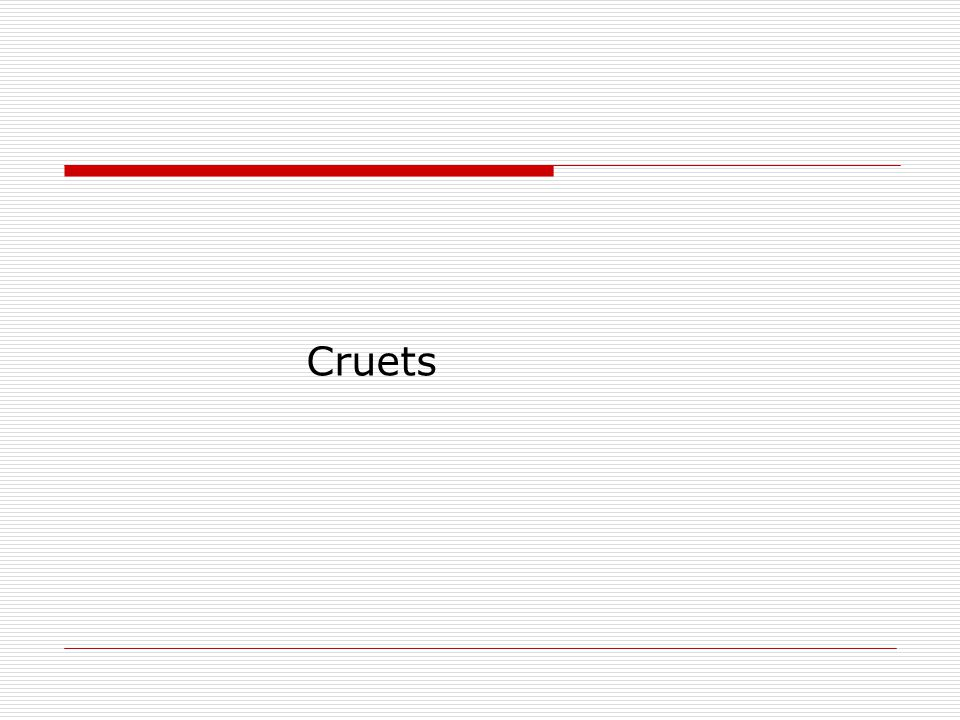 Cruets