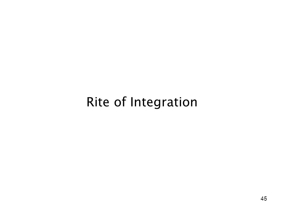 45 Rite of Integration