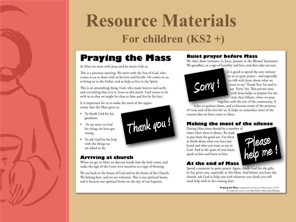 Resource Materials For children (KS2 +)