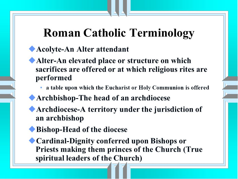 Roman Catholic Customs uCommittal Service The Priest will usually lead and may be flanked by acolytes with crucifix, incense and/or Holy Water uPriest should stand at the head of the casket with the casketbearers at the foot uPriest lines are required for burial in a Catholic Cemetery uCremation is allowed if the intention is not to deny the resurrection of the body
