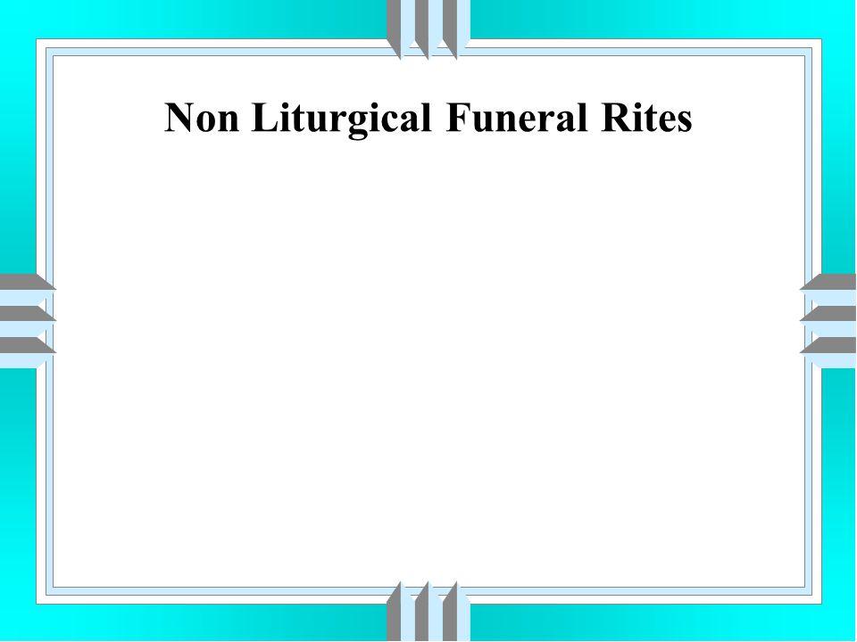 Non Liturgical Funeral Rites