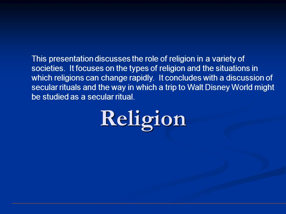 Introduction Religion (Wallace) Religion (Wallace) belief and ritual concerned with supernatural beings, powers, and forces.