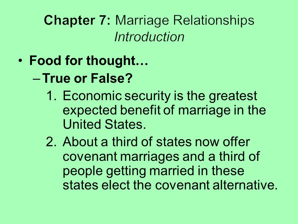 The Future of Marriage Relationships Diversity will continue to characterize marriage relationships of the future.