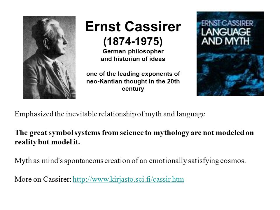 Ernst Cassirer (1874-1975) German philosopher and historian of ideas one of the leading exponents of neo-Kantian thought in the 20th century Emphasize