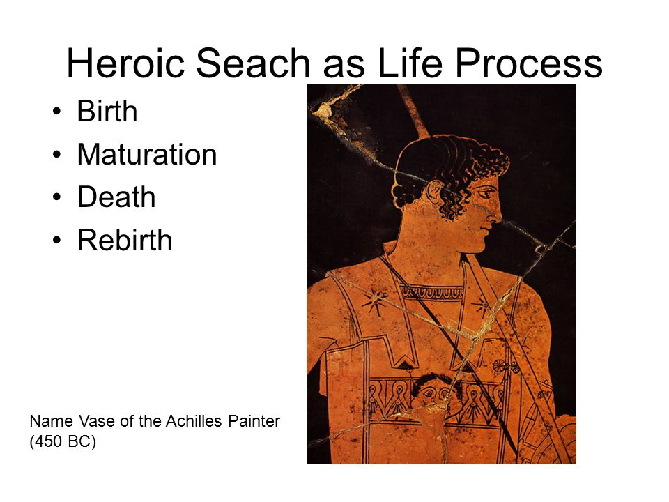 Heroic Seach as Life Process Birth Maturation Death Rebirth Name Vase of the Achilles Painter (450 BC)