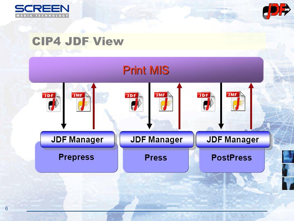6 CIP4 JDF View PressPostPress Prepress Print MIS JDF Manager