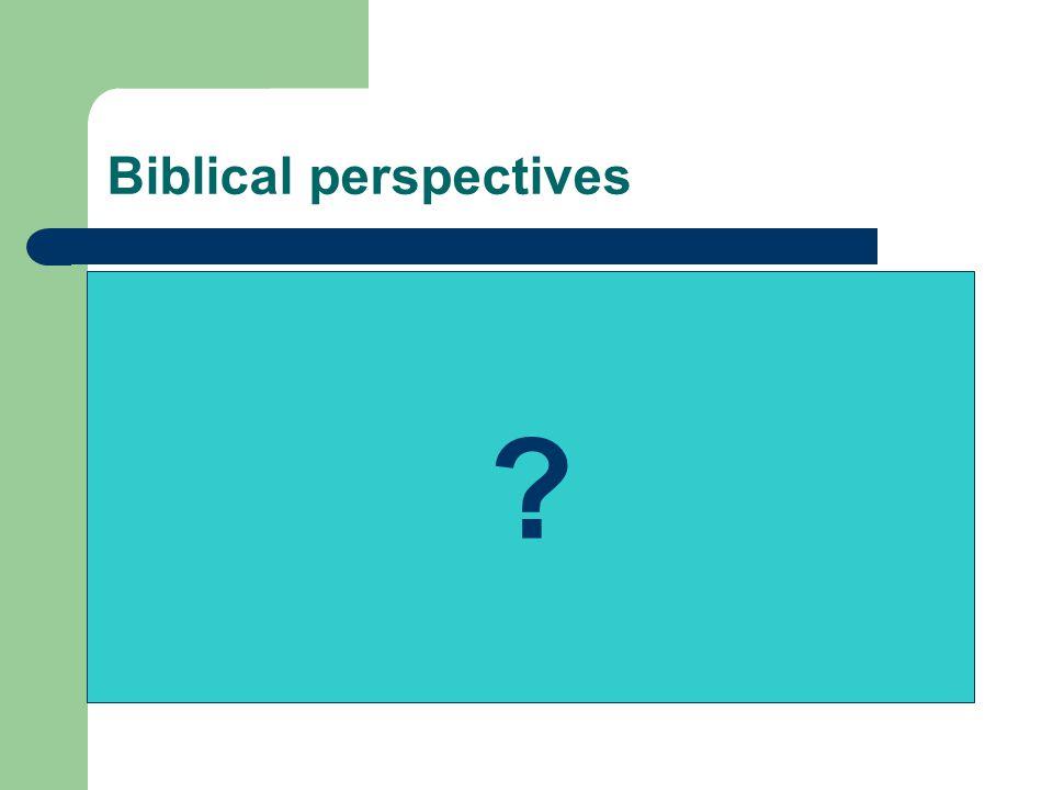 Biblical perspectives ?