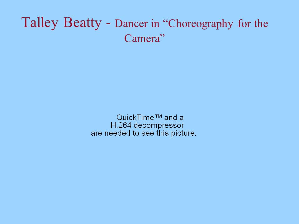 "Talley Beatty - Dancer in ""Choreography for the Camera"""