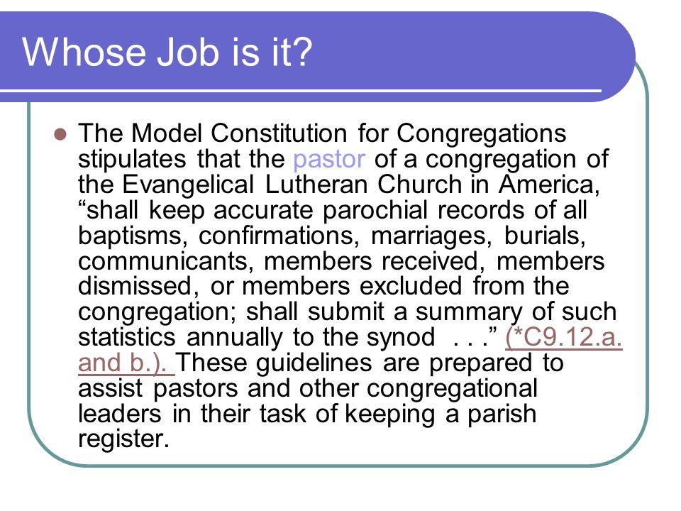 Whose Job is it.