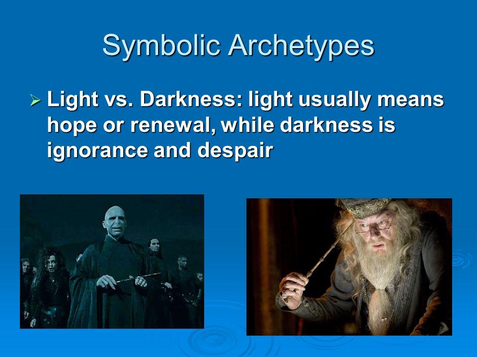 Symbolic Archetypes  Water vs.