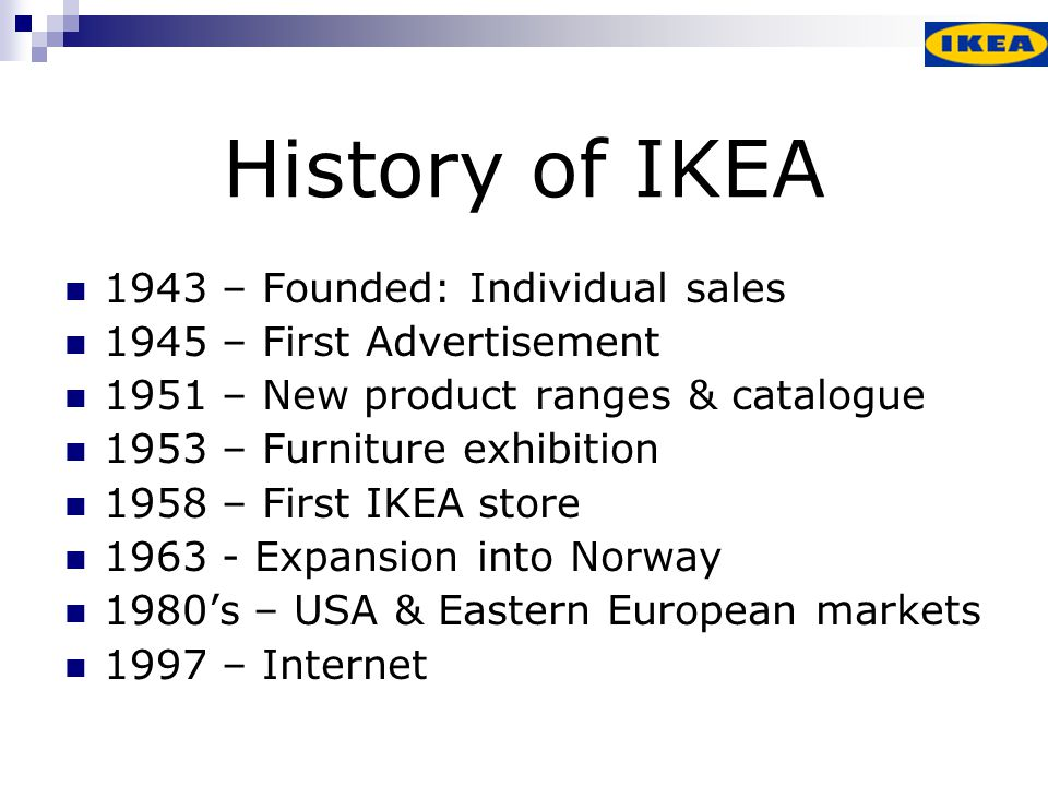 Maintaining a strong IKEA culture is one of the most crucial factors behind the continued success of the IKEA concept Ingvar Kamprad