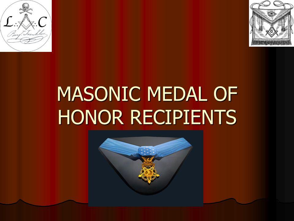 MASONIC MEDAL OF HONOR RECIPIENTS WILLIAM BLACKWOOD, LTC  48 TH Pennsylvania Infantry on April 2, 1865 at Petersburg, VA.