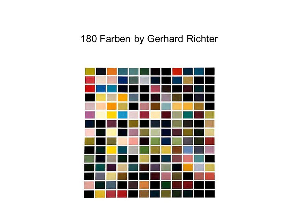 180 Farben by Gerhard Richter