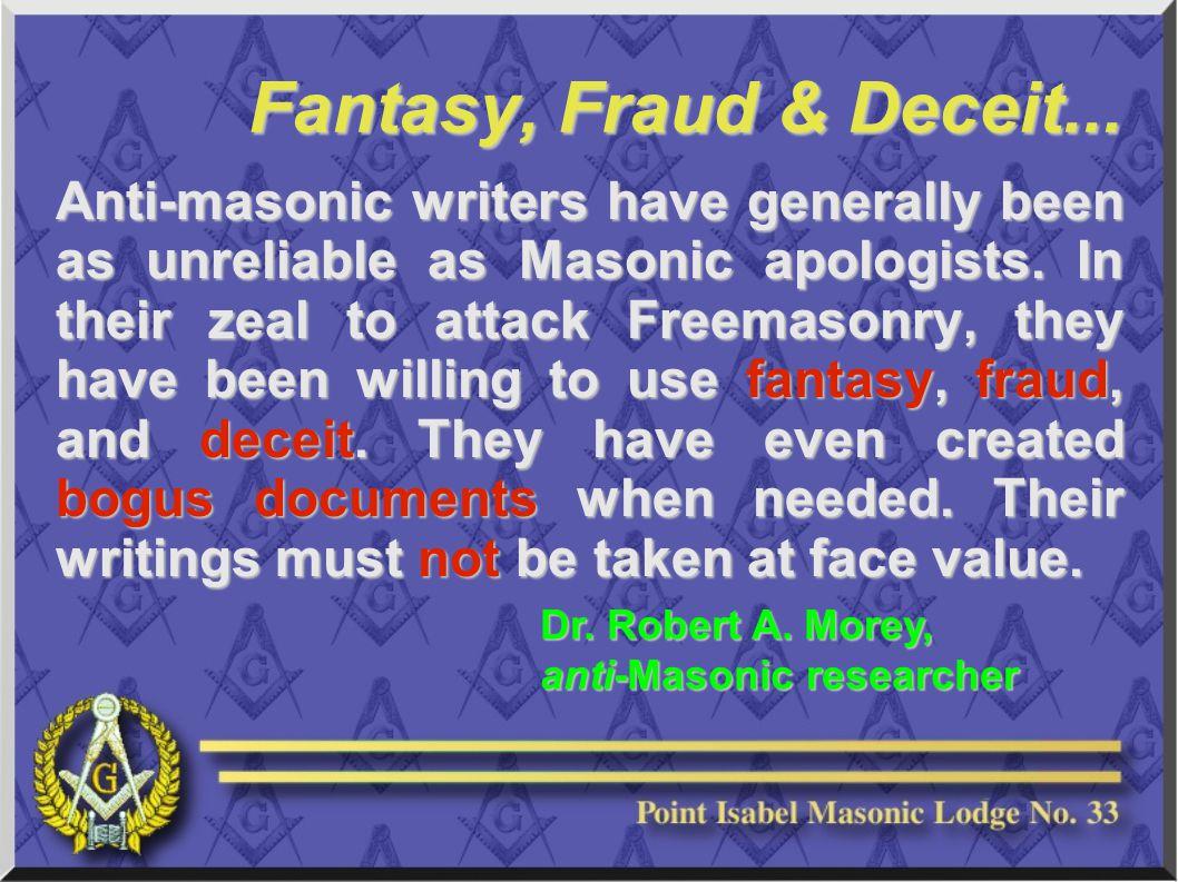 Fantasy, Fraud & Deceit...