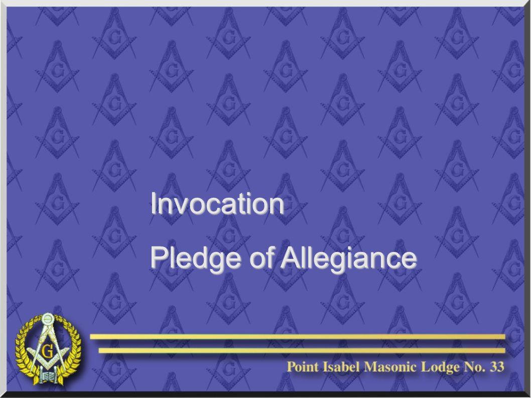 Invocation Pledge of Allegiance