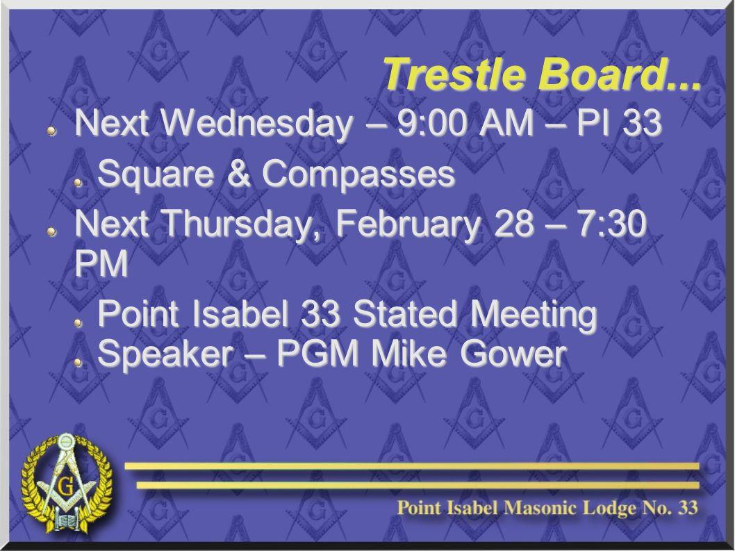 Trestle Board...