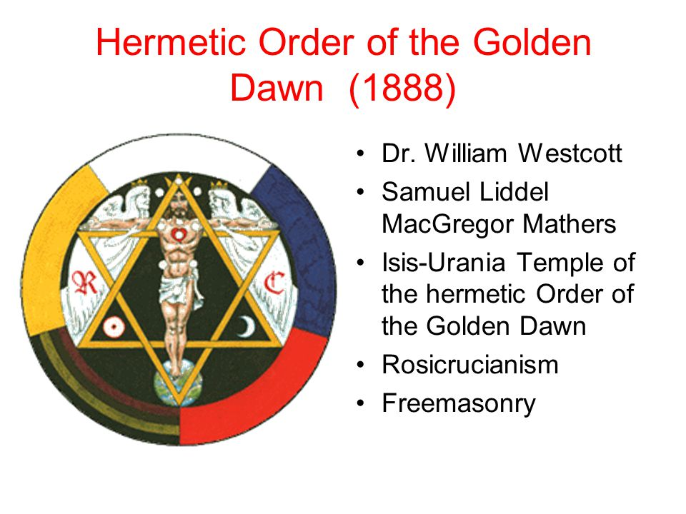 Hermetic Order of the Golden Dawn (1888) Dr.