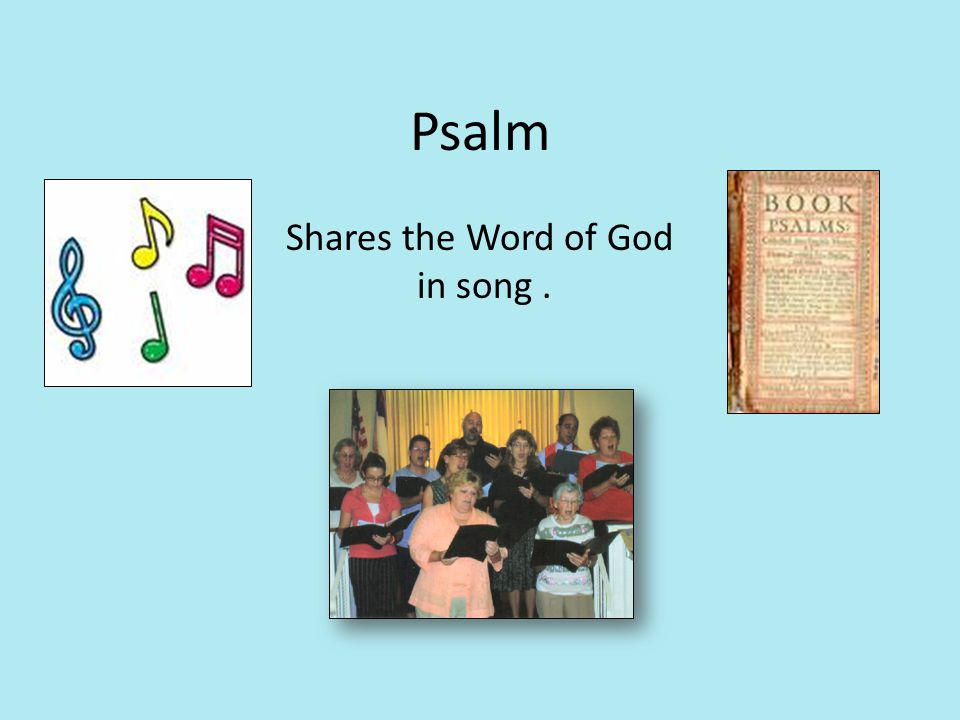 Psalm Shares the Word of God in song.