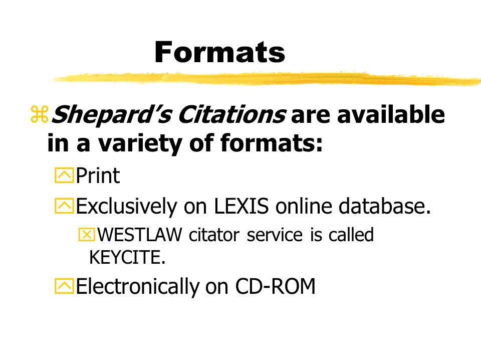 Shepard's Citations...