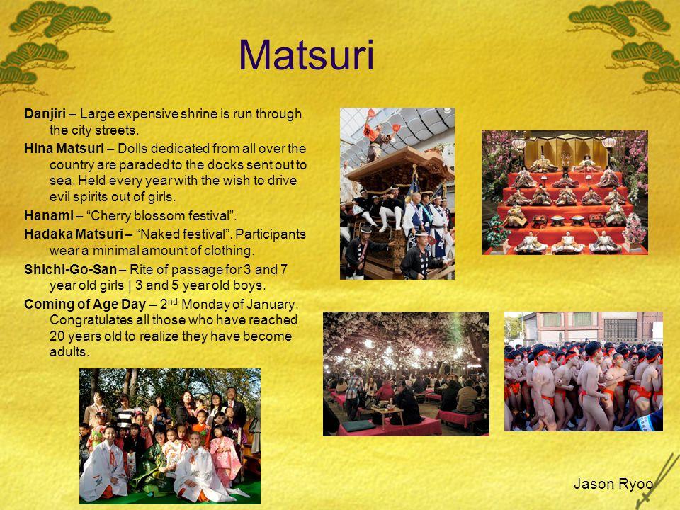 Matsuri Danjiri – Large expensive shrine is run through the city streets.