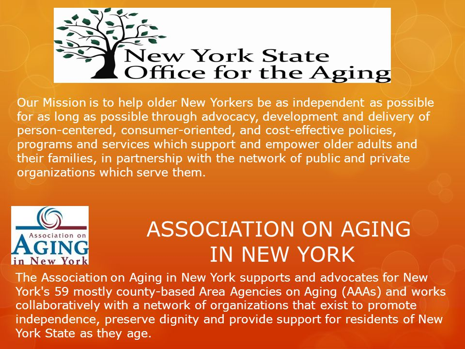 CIVIC COLLABORATION  Alzheimer's Association  Association on Aging in New York  Cornell Cooperative Extension  Geriatric Mental Health  Hospice  Independent Living  Jewish Family Service  Local Police Departments  Mental Health Association  Mount Saint Mary's  NYSOFA (New York State Office for the Aging)  Orange Regional Medical Center  Orange Ulster Boces  Shoprite  SUNY Orange  St.