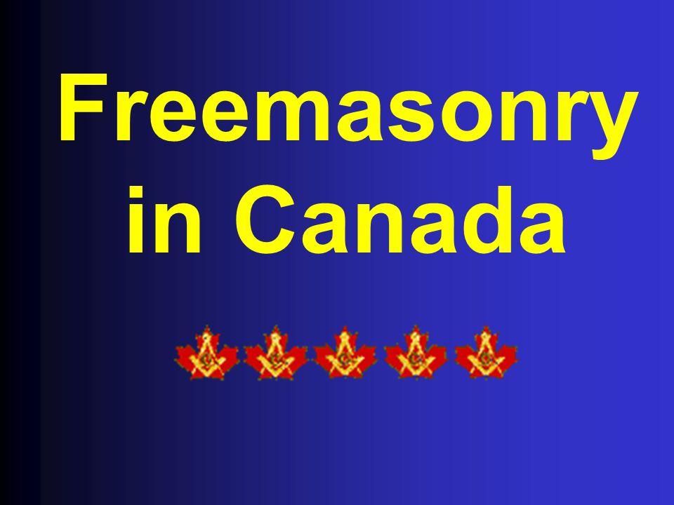 Freemasonry in Canada