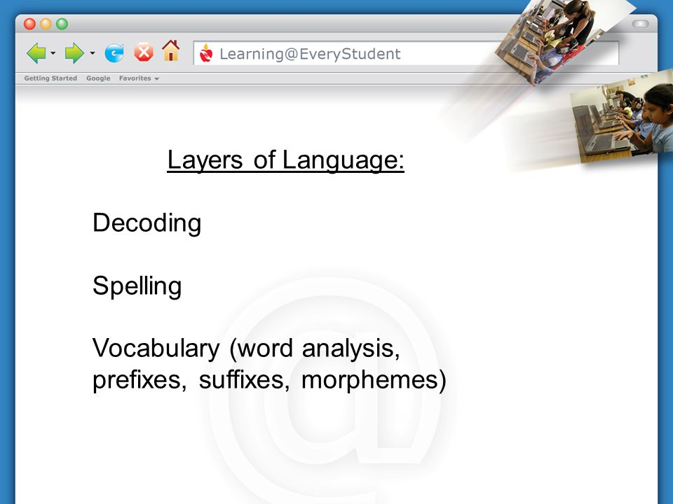 Layers of Language: Decoding Spelling Vocabulary (word analysis, prefixes, suffixes, morphemes)