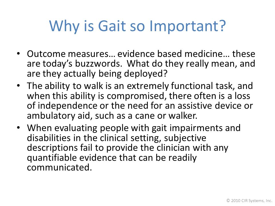 Outcome measures… evidence based medicine… these are today's buzzwords.