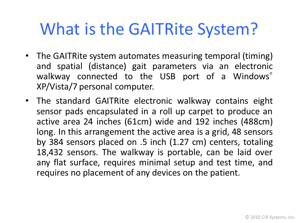 What is the GAITRite System.
