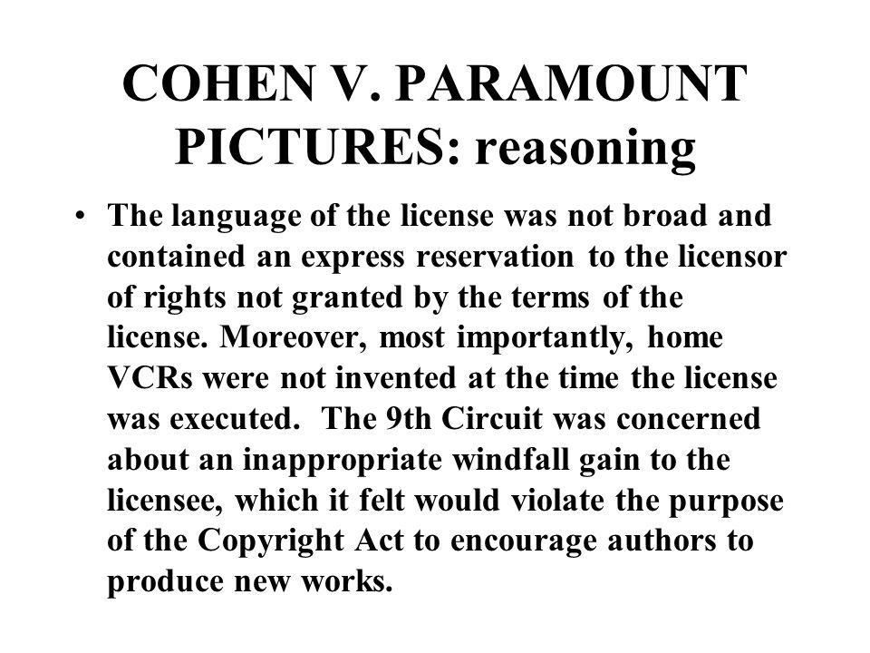 COHEN V.