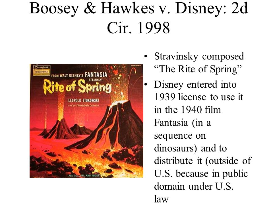 Boosey & Hawkes v. Disney: 2d Cir.