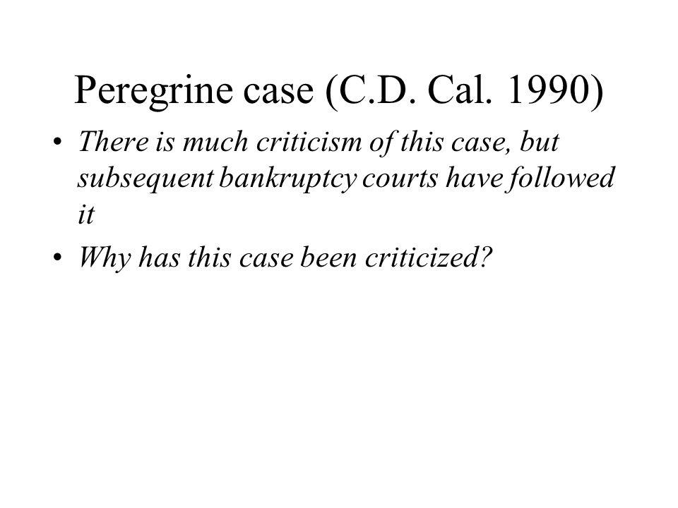 Peregrine case (C.D.Cal.