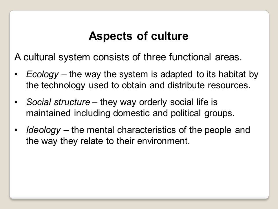 Collectivist cultures – where people subordinate their personal goals to those of a stable in-group.