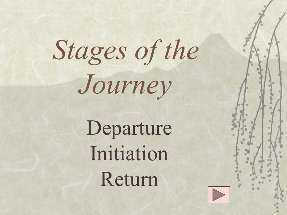 Stages of the Journey Departure Initiation Return