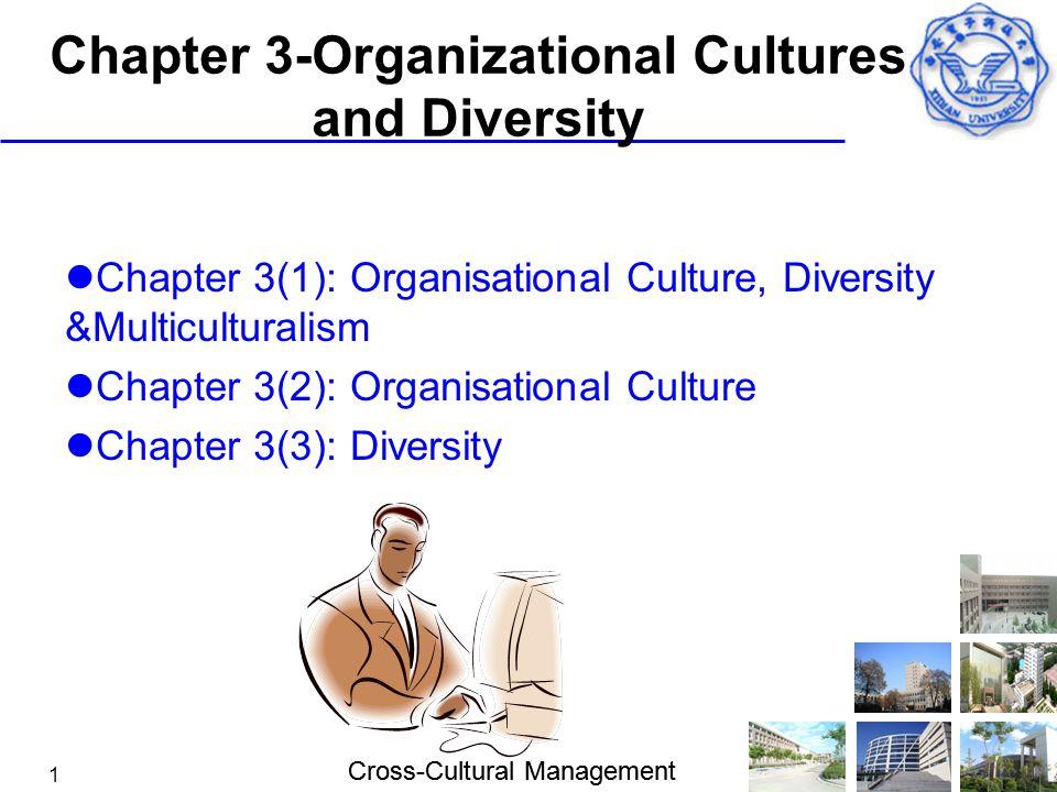 Cross-Cultural Management 1 Chapter 3-Organizational Cultures and Diversity Chapter 3(1): Organisational Culture, Diversity &Multiculturalism Chapter