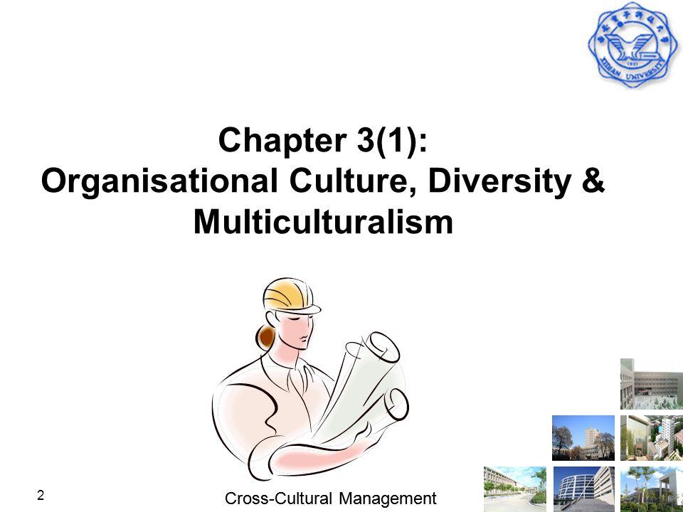 Cross-Cultural Management 2 Chapter 3(1): Organisational Culture, Diversity & Multiculturalism