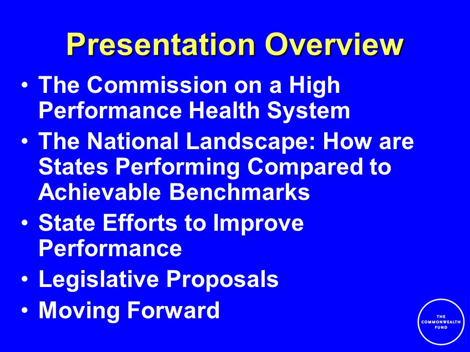 Several States Attempting Comprehensive Health Reform Maine, Maine and Vermont have quality initiatives built into coverage expansions Maine –Created Maine Quality Forum to advocate for high quality health care and help each Maine citizen make informed health care choices.