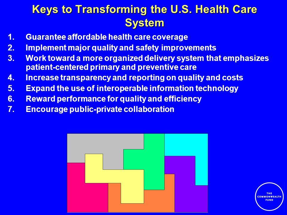 Keys to Transforming the U.S.
