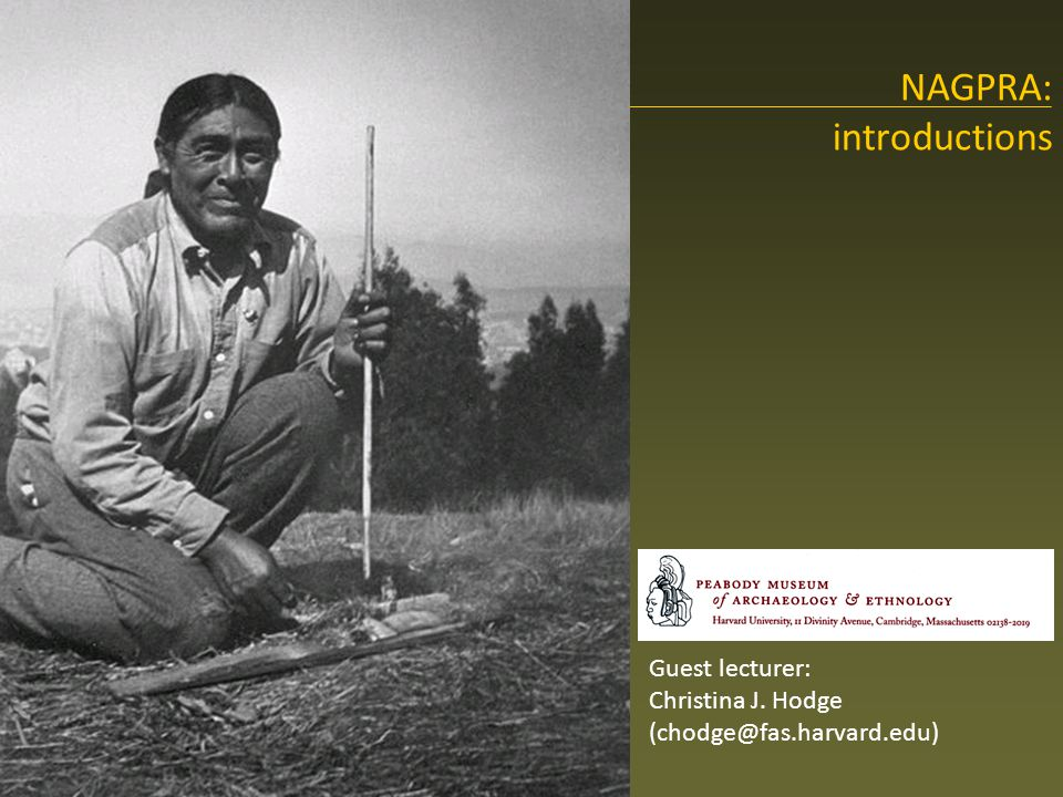 NAGPRA's research questions Does the item meet the definition of a cultural item under NAGPRA.