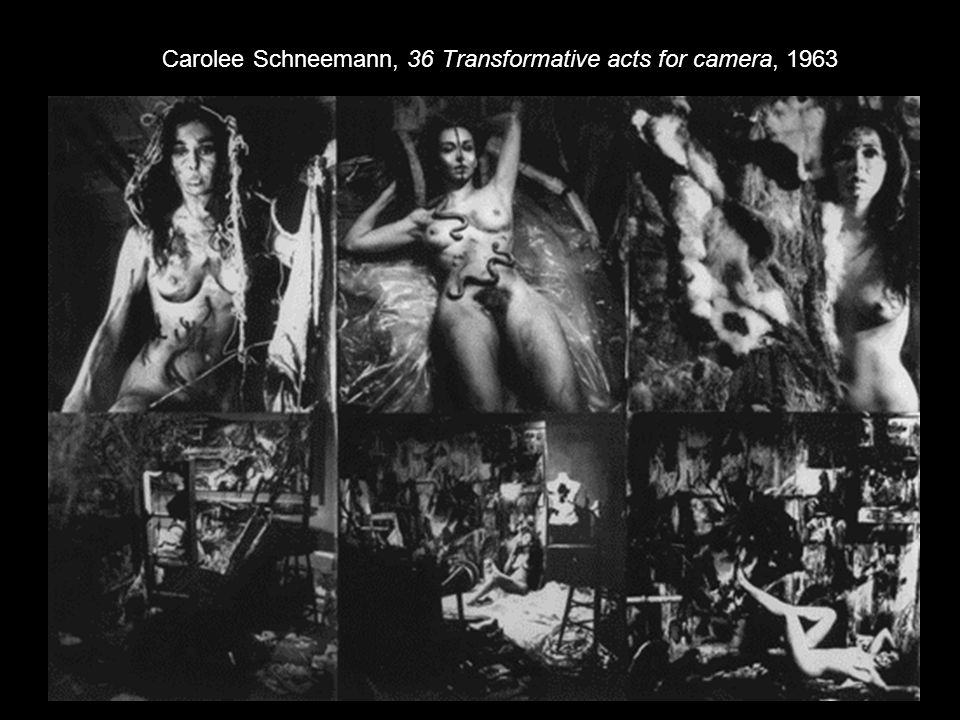 Carolee Schneemann, 36 Transformative acts for camera, 1963